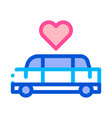 car limousine for wedding ceremony icon vector image vector image