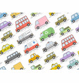 car seamless pattern flat colors style il vector image vector image