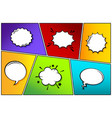 cartoon comic backgrounds set speech bubble vector image