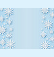 christmas greeting card paper cut snowflakes xmas vector image vector image