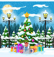 christmas nature landscape vector image vector image