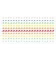 cigarette smoke shape halftone spectrum array vector image