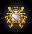 coat of arms baseball symbol vector image vector image
