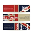Collection of banners and ribbons with London vector image vector image