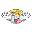 crazy creme brulee served on mascot plate vector image vector image