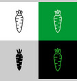 daikon radish thin linear simple icon side view vector image vector image