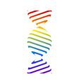 dna icon graphic vector image