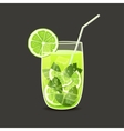 drink in glass vector image vector image