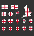 england flag icons set national flag england vector image vector image