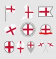 england flag icons set national flag england vector image