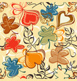fall leaves pattern in bright colors vector image vector image