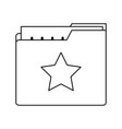 folder with file or text document icon image vector image vector image