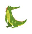friendly smiling crocodile funny predator cartoon vector image vector image
