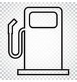 fuel gas station icon in line style car petrol vector image