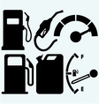 Gas tank gas station and jerrycan vector image