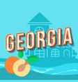georgia vintage 3d lettering retro bold font vector image