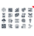 glyph icons set search engine optimization vector image vector image