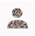 group people shape man vector image vector image