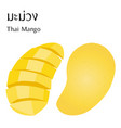 half and slice thai mango vector image vector image