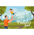 happy father day banner cartoon character vector image