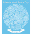 International Peace Day background vector image vector image