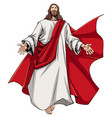 jesus open arms vector image