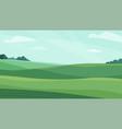 landscape green meadow field vector image
