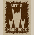 let s hard rock hand gesture horn vector image vector image