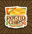 logo for potato chips vector image vector image