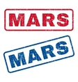 Mars Rubber Stamps vector image vector image