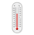 meteorology thermometer realistic vector image