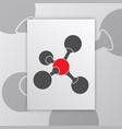 molecule science poster vector image