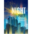 Night Party Blue Flyer Template - EPS10 vector image vector image