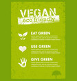 organic green vegan creative nature vector image vector image