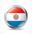 Paraguay flag button vector image vector image