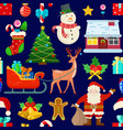 pattern with christmas decoration vector image vector image