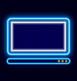 personal computer shining pc neon icon device vector image