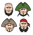 Pirate Mascot Faces Set vector image vector image