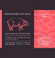 premium quality meat abstract pork vector image vector image