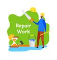 repair work handyman service flat banner vector image