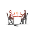 restaurant couple love date romantic concept vector image