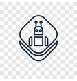 robot concept linear icon isolated on transparent vector image