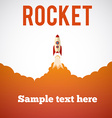 Rocket launch icon eps 10 vector image vector image