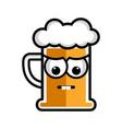 sad beer cartoon character vector image