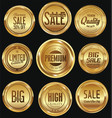 sale luxury golden labels collection vector image vector image