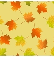 seamless background autumn maple leaves maple leaf vector image vector image