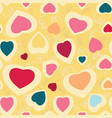 seamless texture with funny hearts vector image vector image