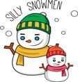 Silly Snowmen vector image vector image