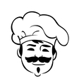 Smiling chef with a moustache vector image vector image