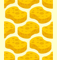 sponge yellow for washing pattern cleaning vector image vector image